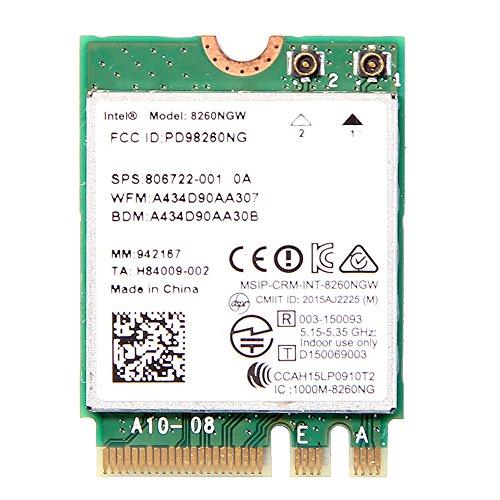 Intel Dual Band Wireless-AC 8260 (8260NGW) NGFF Wwifi Card 867Mbps 2.4/5GHz 802.11a/b/g/n/ac Bluetooth 4.2