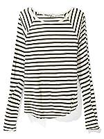 Pam & Gela Slash Back Dolman Top in White/Black
