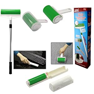 New Sticky Lint Roller Set Of 3 Washable Reusable Cleaner Hair Dust Seen On Tv