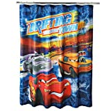 Disney Pixar Cars Microfiber Fabric Shower Curtain 72 in x 72 in