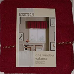 Home Rich Red Window Valance Charleston Curtain Topper
