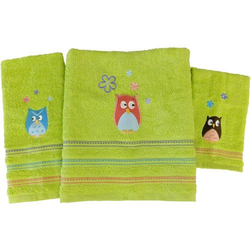 Whooty Hoot 3-Piece Towel Set