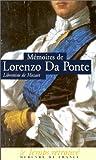 M�moires (1749-1838), par le librettiste de Mozart