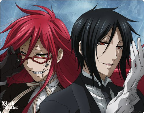 FUNimation - Black Butler - Black Butler Sebastian and Grell - Motorola Droid 2 - Skinit Skin butterfly green and black butterfly motorola droid 2 skinit skin