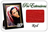 "Pro Extensions 18"" Red Highlight Streaks Clip-in Human Hair Extensions"