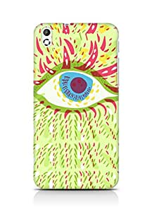 Amez designer printed 3d premium high quality back case cover for HTC Desire 816 (Psychedelic eye)