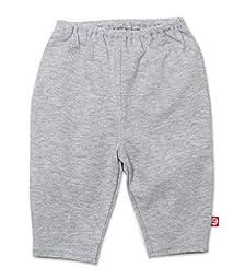 Zutano Unisex-Baby Newborn Heathered Solid Pant, Gray, Newborn