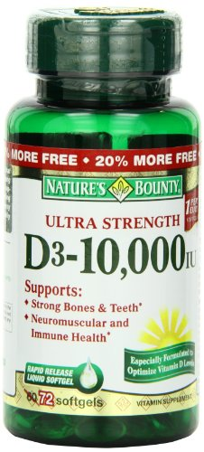 Nature'S Bounty Vitamin D 10,000 Lu, 72 Count