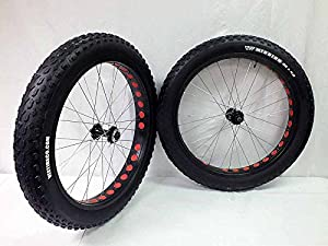 26 inch Fat Tire Bike Bicycle Wheels 26 x 4.0 Mission Tires and Tubes