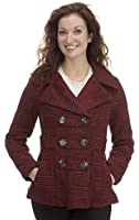 Dollhouse Womens Classic Pea Coat with Pop Print Lining