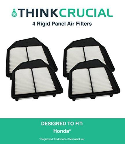 "4 Premium Rigid Panel Air Filter Fits Honda Accord & Honda Crosstour, Maximum Air Flow, 1.93"" x 8.67"" x 10.44"" in., Part # A36309 & # CA10467, by Think Crucial"