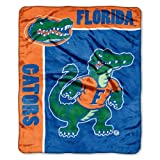"NCAA Florida Gators 50-Inch-by-60-Inch Raschel Plush Throw ""School Spirit"" Design at Amazon.com"