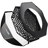 Walimex Pro Octagone Softbox Plus Boîte à lumière pour Elinchrom Diamètre 120 cm Orange Line