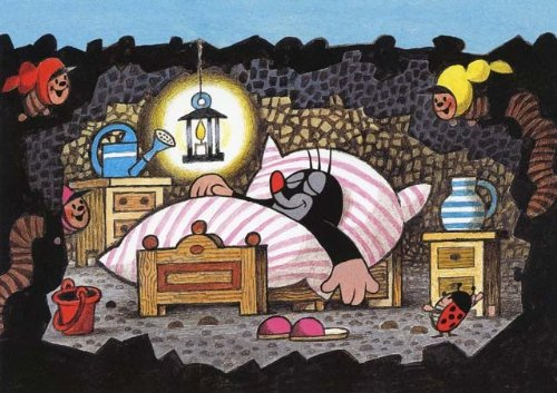 Postkarte Maulwurf - Gute Nacht Maulwurf