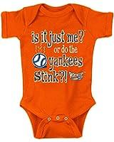 New York Mets Fans. Is it Just Me? Orange Onesie (6M)