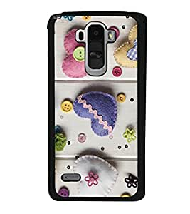 Hearts 2D Hard Polycarbonate Designer Back Case Cover for LG G4 Stylus