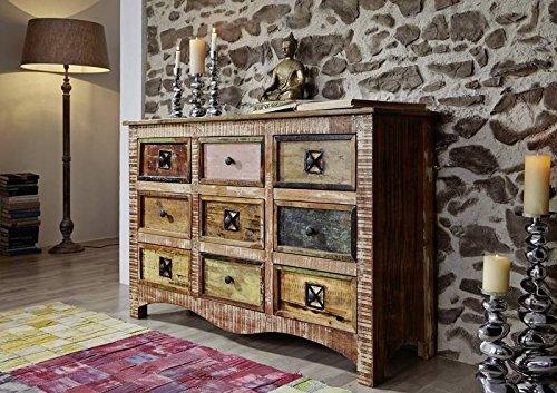 Altholz massiv mehrfarbig Massivmöbel Holz Kommode Massivholz Möbel massiv Spirit #59