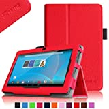 """Fintie Chromo 7"""" Tablet Folio Case Cover - Premium Leather With Stylus Holder for Chromo Inc 7 Inch Android Tablet (Front Camera Version Only) - Red"""