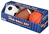 Toysmith プロボールセット キッズ用 ソフト サッカーボール バスケットボール ラグビー アメフト