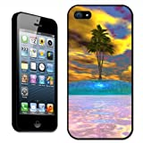Fancy A Snuggle Multicoloured Desert Island with Palm Tree Clip On Back Cover Hard Case for Apple iPhone 5