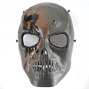 Buy MECO(TM) Skull Skeleton Mask Paintball Full Face Airsoft Army Game Protect by Meco