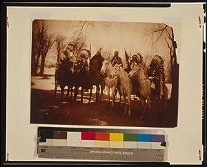 Photo: Chief,Little Plume,Buckskin Charley,Geronimo,Quanah Parker,Hllow Horn Bear,c1900