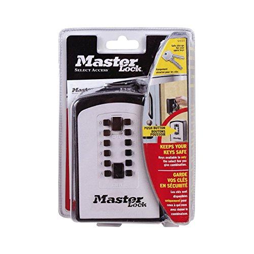 master lock 5412eurd custodia per chiavi select access combinazione programmabile con pulsante. Black Bedroom Furniture Sets. Home Design Ideas