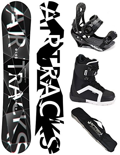 AIRTRACKS SNOWBOARD KOMPLETT SET / REFRACTIONS GAME WIDE + BINDUNG SAVAGE + BOOTS + SB BAG / 159 161 165 168 171/ cm