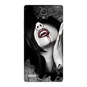 Premium Wonder Lips Red Back Case Cover for Redmi Note