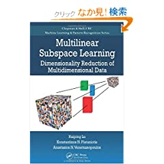 Multilinear Subspace Learning: Dimensionality Reduction of Multidimensional Data (Chapman & Hall/Crc Machine Learning & Pattern Recognition)