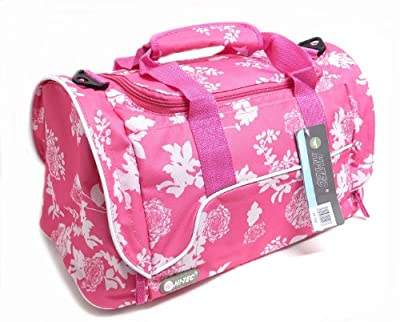 Womens Gym Bag Ladies Weekend Overnight Hand Luggage Travel Holdall Pink