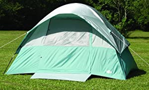 Texsport Cool Canyon 4 Person Square Dome Tent (Green/Gray, 8-Feet X 10-Feet X 65-Inch)