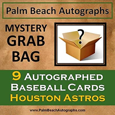 MYSTERY GRAB BAG - 9 Autographed Baseball Cards - Houston Astros