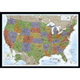 United States Decorator [Enlarged and Laminated] (National Geographic: Reference Map) (Reference - U.S.)