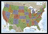United States Decorator Wall Map (Enlarged & Laminated) (Reference - U.S.)