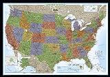United States Decorator Wall Map (Enlarged & Laminated) (Reference - U.S.)