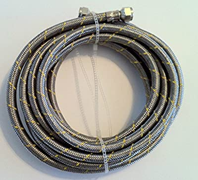 (Ship from USA) Propane, Natural Gas Line 32 ft Stainless Steel Braided Hose LP LPG /ITEM NO#8Y-IFW81854158332