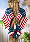 Patriotic Pinwheel 4Th Of July Outdoor Wall Decoration By