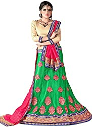 Khushi Trendz Women's Net Semi-Stitched Lehenga Choli Set_KT9179_Multicolored_Freesize