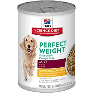 Hill's Science Diet Canine Adult Perfect Weight Hearty Vegetable & Chicken Stew Dog Food, 12.5 oz, 12-Pack