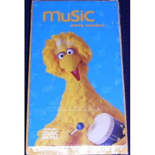 Sesame Street music Works Wonders maravillas Musicales(vhs