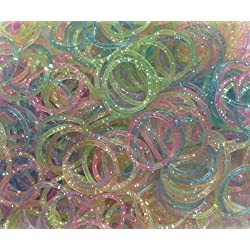[Best price] Arts & Crafts - Refill Bands Pack of 1200 Glitter Style 1 Rubber Bands with 50 S-clips - toys-games