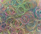 Refill Bands Pack of 1200 Glitter Style 1 Rubber Bands with 50 S-clips