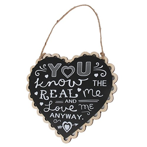 You Know the Real Me and Love Me Anyway Signe Panneau en Bois Décoration Suspendue Vintage pour Mariage Noir