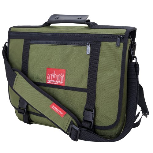 Manhattan Portage The Walstreeter with Back Zipper, Olive, One Size Manhattan Portage Nylon Backpack