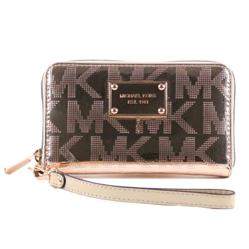 Michael Kors Multi Function Electronics Phone Case Wristlet Rose Gold