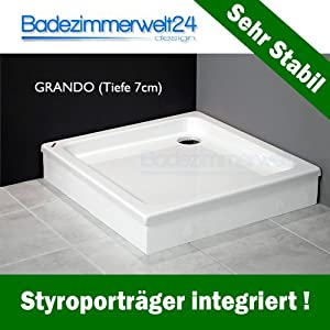 Grando Duschwanne/Duschtasse zum befliesen, Rechteck/Quadrat 90x90x17 cm  BaumarktBewertungen