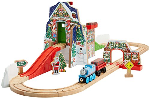 Fisher-Price Thomas the Train Wooden Railway Santa's Workshop Express [Amazon Exclusive] JungleDealsBlog.com