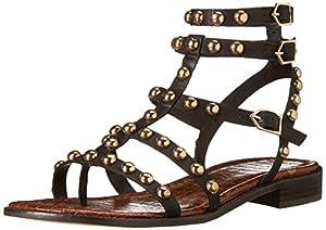 Sam Edelman Women's Eavan Gladiator Sandal, Black, 8.5 M US
