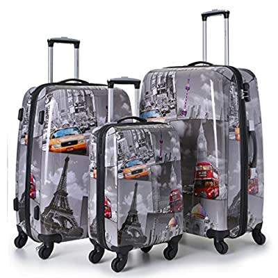 High Quality PC Hard Shell 4 Wheels Super Lightweight Suitcases...